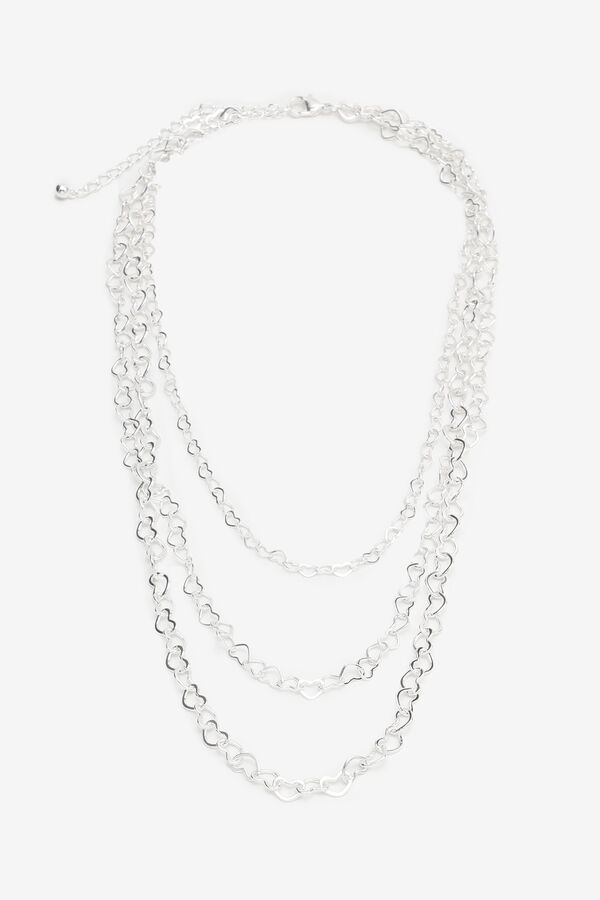 Necklace with Heart-Shape Links