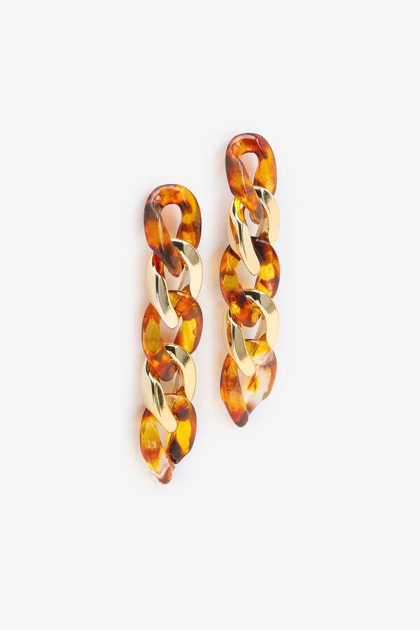 Tortoiseshell Chain Link Earrings