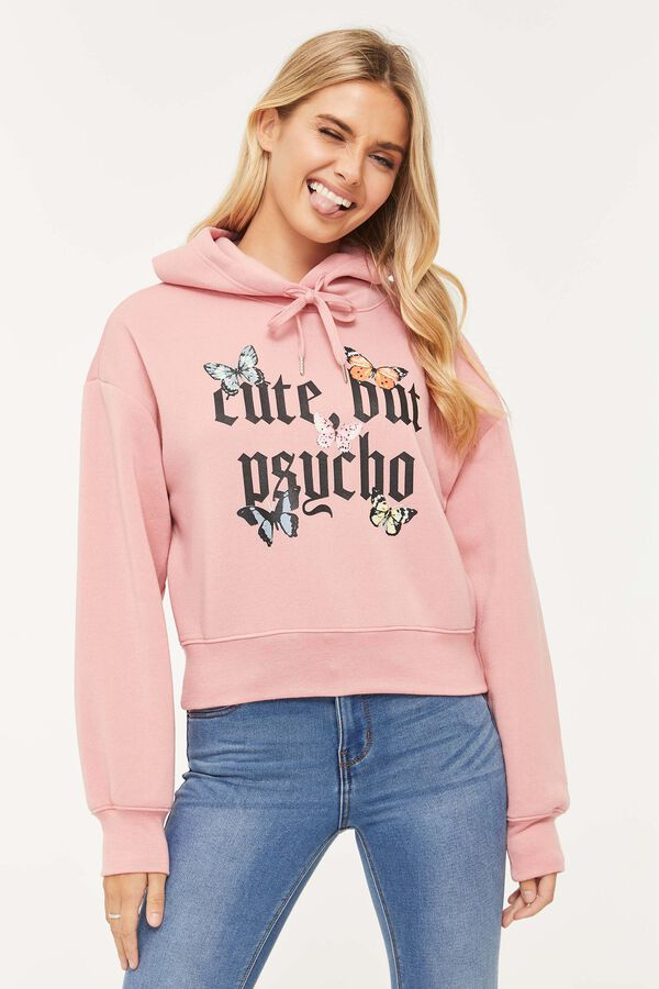 Cute, But Psycho Graphic Hoodie