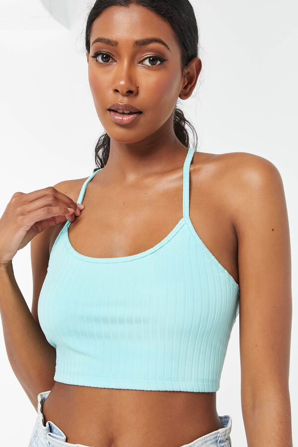 Lace-Up Back Tank Top