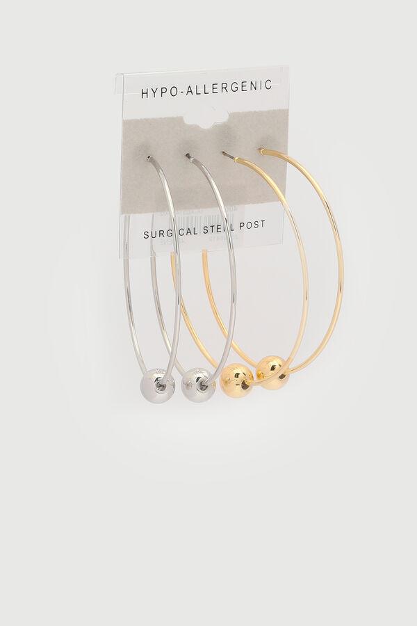 Hoop Earrings with Sphere