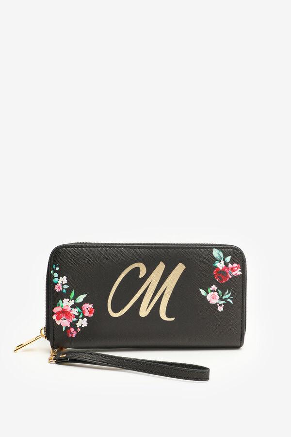 Letter M Floral Accordion Wallet