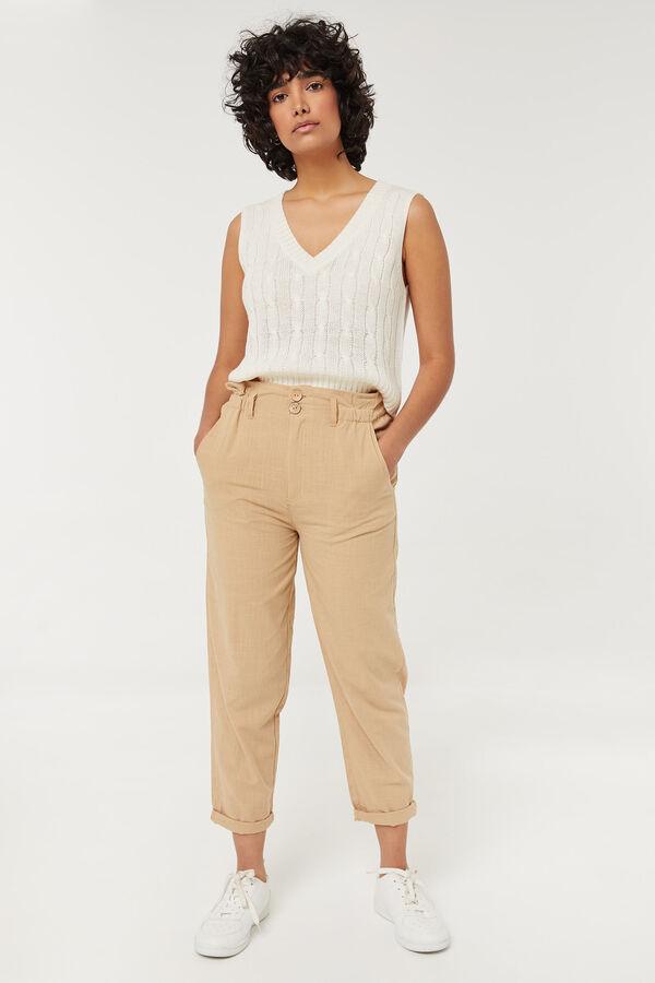 Cotton Paper Bag Pants