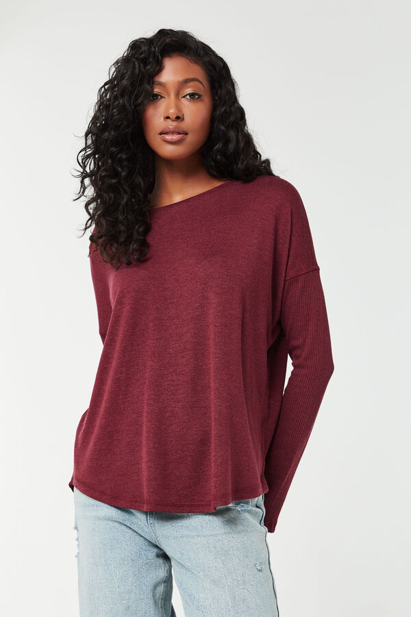 Ribbed-Sleeved Sweater