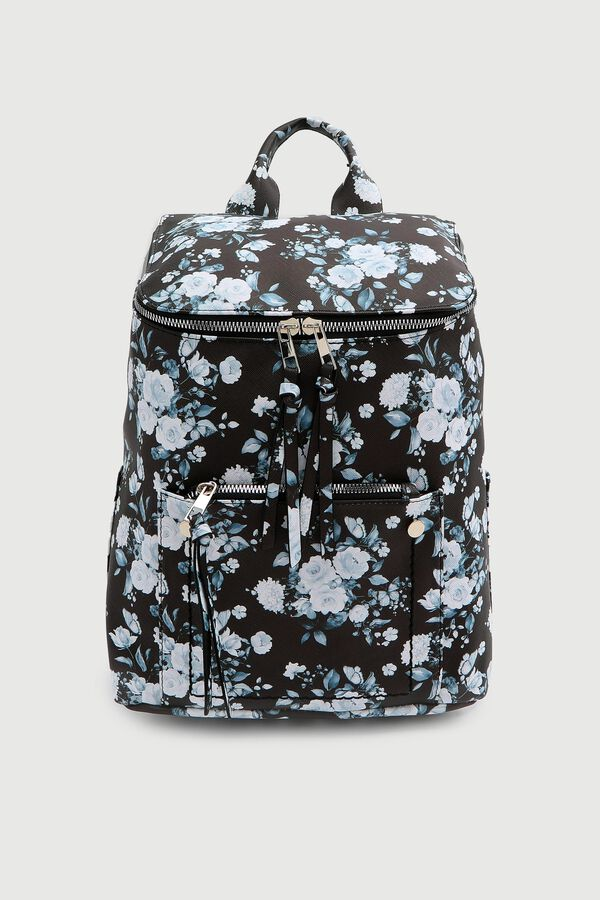 Floral Zipped Backpack