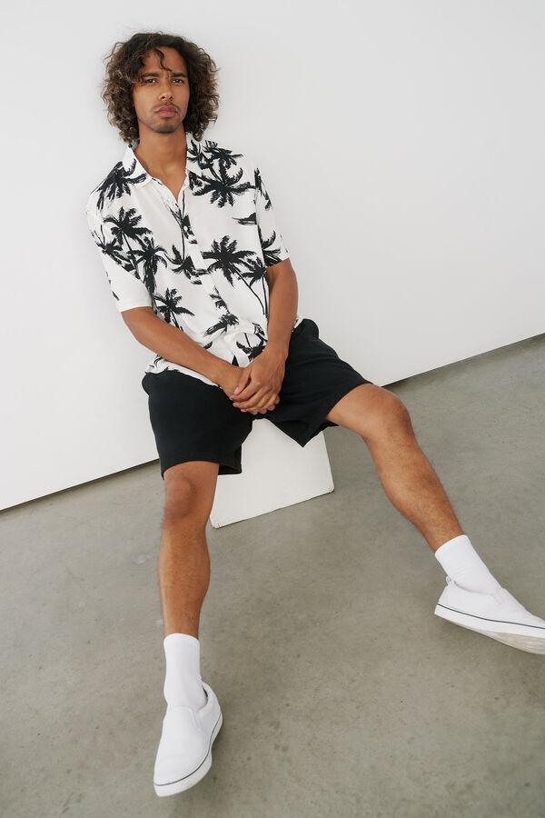 Palm Tree Short Sleeve Shirt for Men