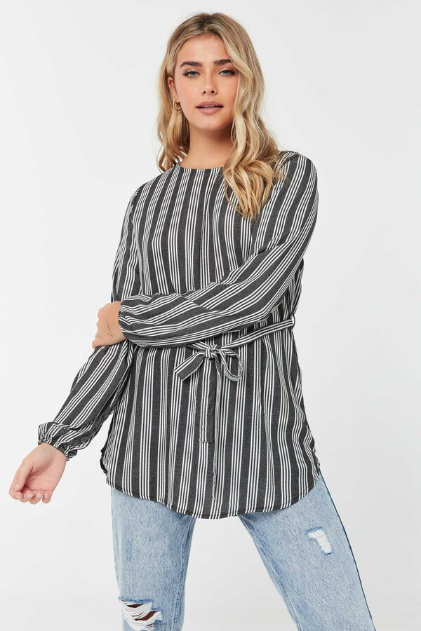 Striped Tunic with Self Tie