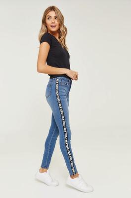 0b57533c295d Graphic Side Stripe Skinny Jeans