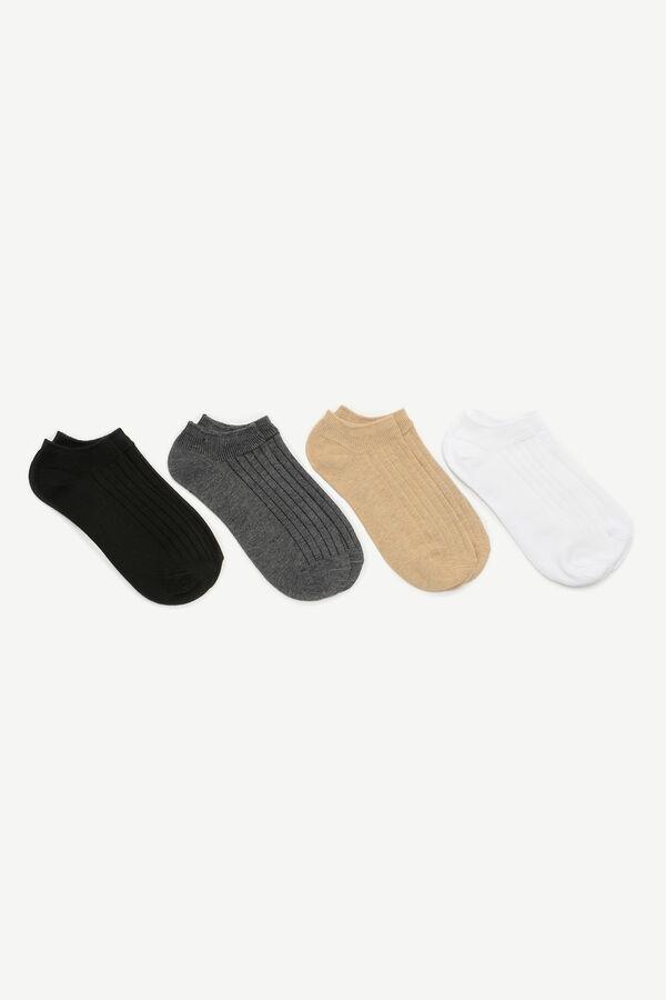 Socquettes côtelées