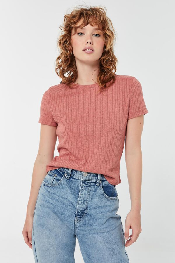Heavy Ribbed Knitted Tee
