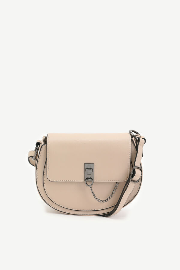 Round Faux Leather Crossbody