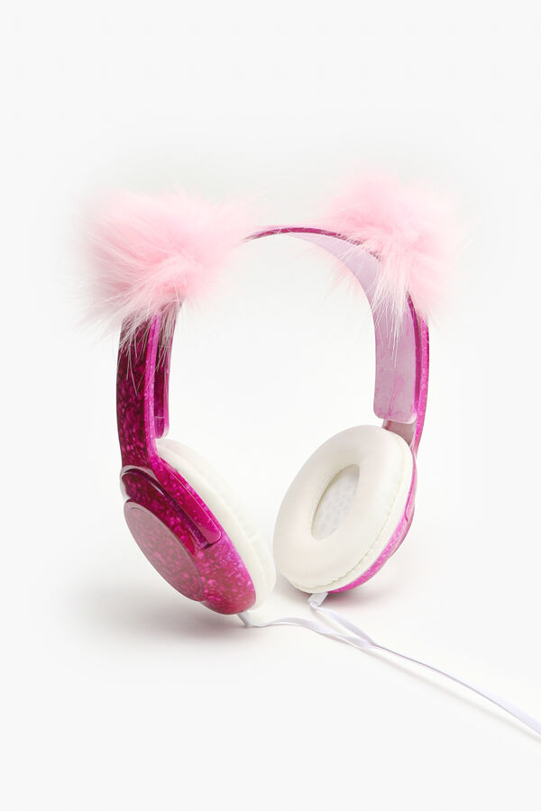 Foldable Headphones with Faux Fur