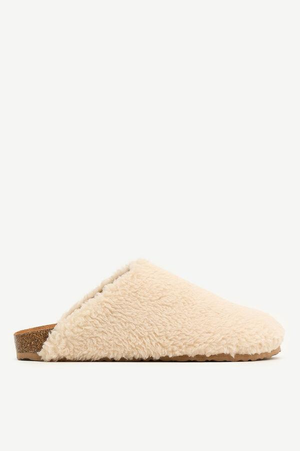 Sandales en faux sherpa