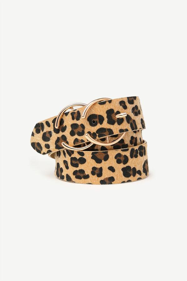 Ceinture à imprimé de léopard