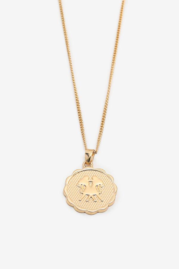 Collier zodiaque à pendentif Gémeaux