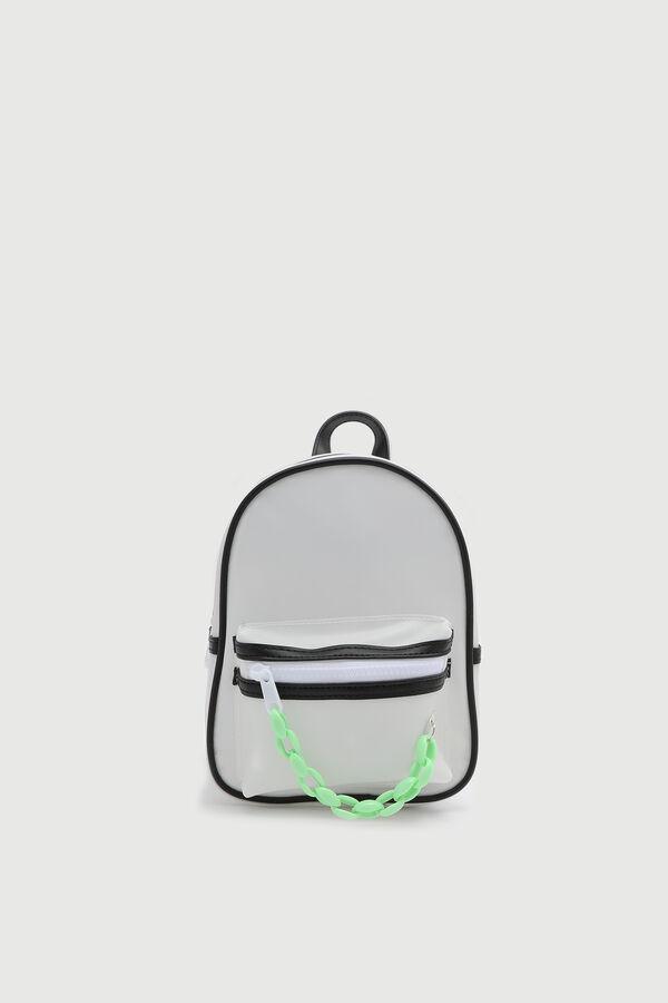 Mini sac à dos avec tirette en chaîne