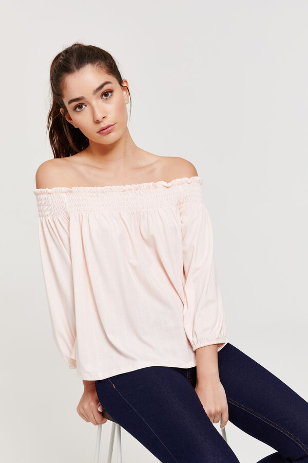 0666d35ddc44f Ardene Ardene Women s Smocked Off Shoulder Top