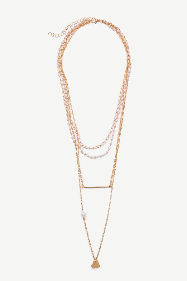 Collier superposé avec fausses perles