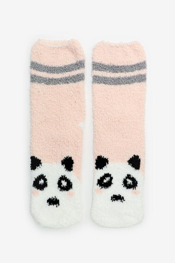 Chaussettes douillettes panda