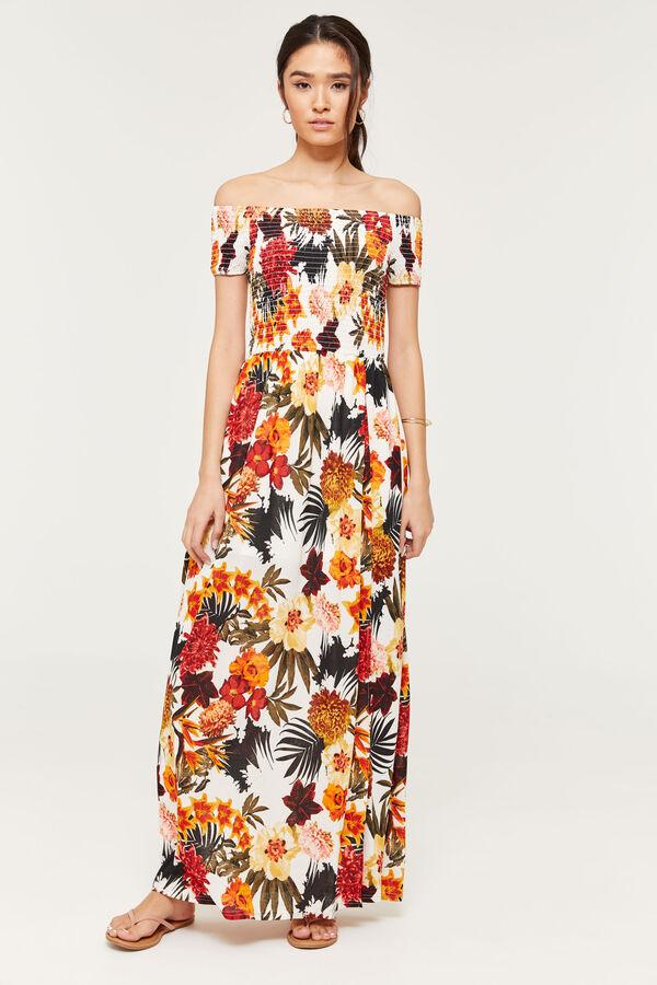 2486ec8b61c Ardene Ardene Women s Smocked Off Shoulder Maxi Dress