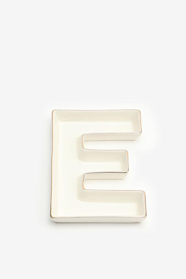 Letter E Trinket Tray