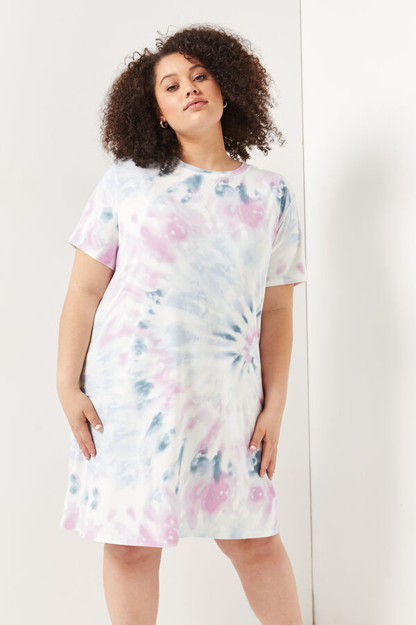 Tie-Dye Nightgown with Mask