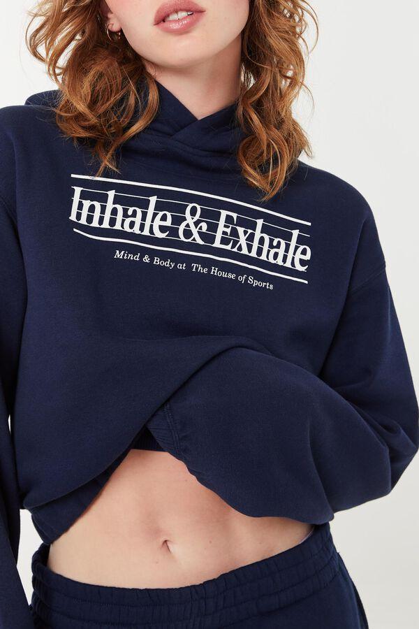 Molleton capuchon Inhale & Exhale