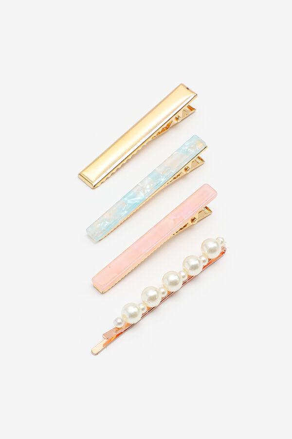 4-Pack Acrylic & Pearl Hair Clips