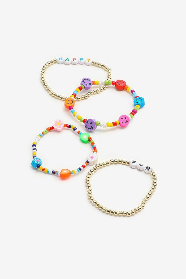 4-Pack Multicolored Beaded Bracelets