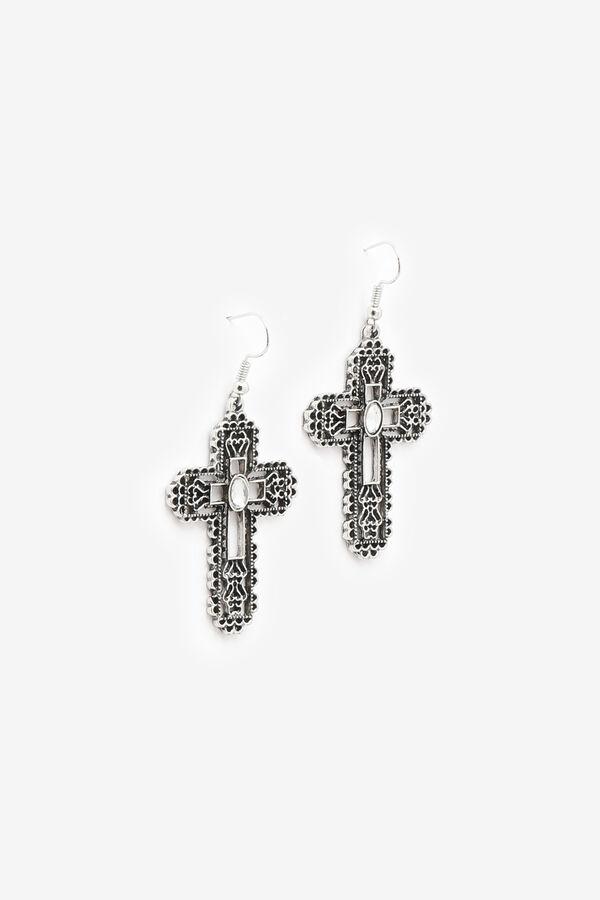 Openwork Cross Earrings