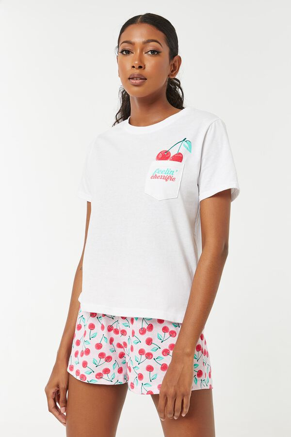 Ensemble pyjama cerises