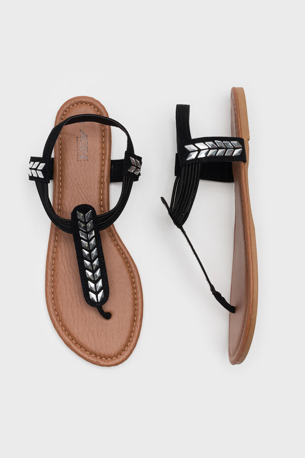 78a6749e4 Ardene Women s Faux Leather T-Strap Sandals