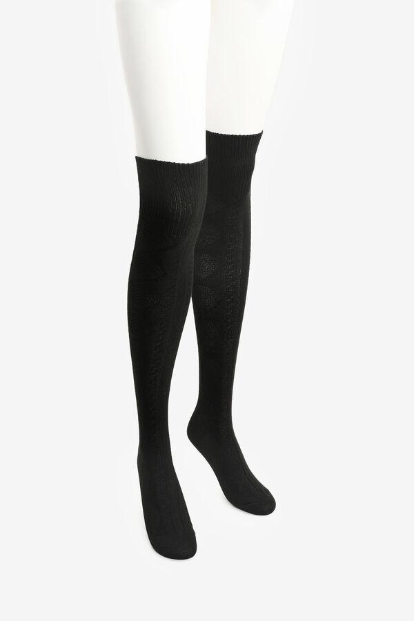 Over-the-Knee Argyle Socks