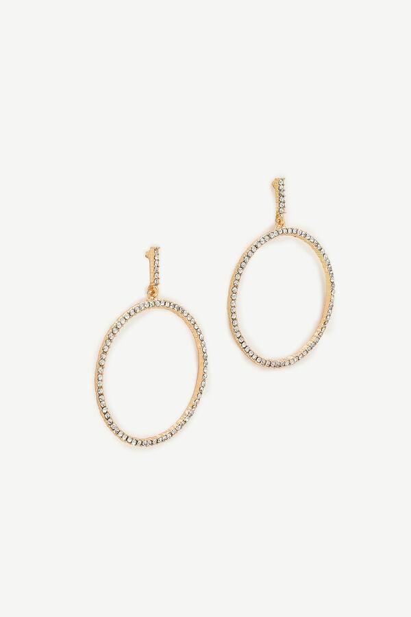 Large Gemstone Hoop Earrings