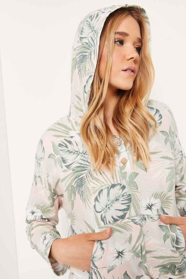 Tropical French Terry Hoodie