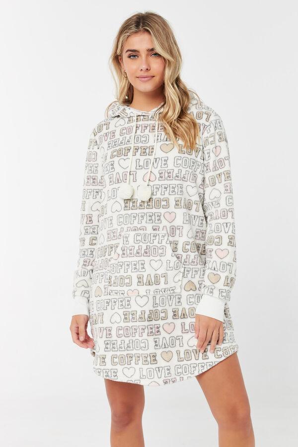 Love Coffee Hooded Nightshirt