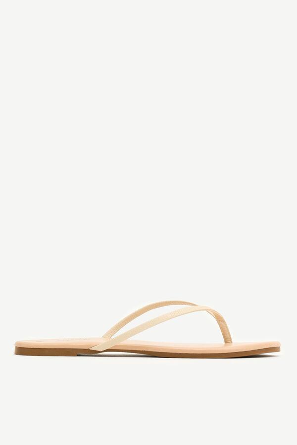 Snakeskin Strap Flip-Flops