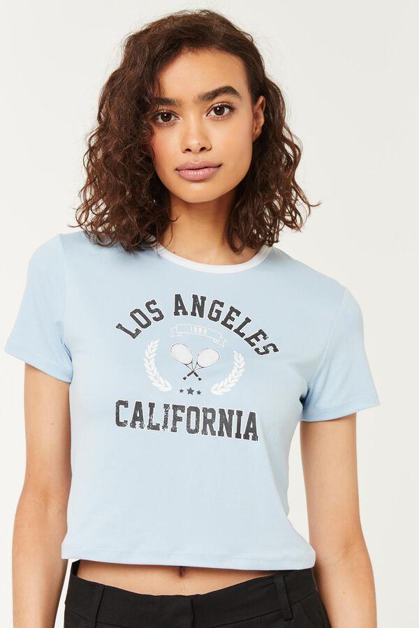 T-shirt à col ringer Los Angeles