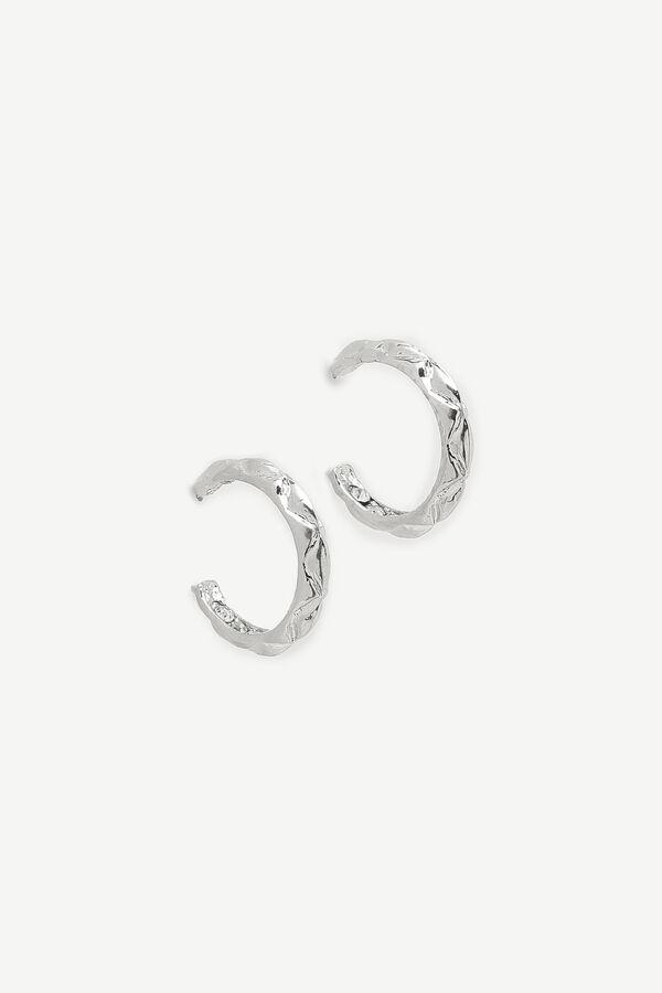 Cabled Hoop Earrings