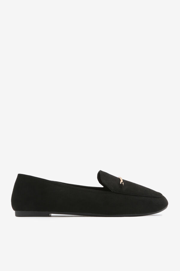 Faux Suede Loafers with Keeper