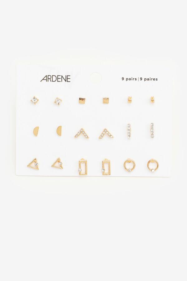 Pack of Geometric Stud Earrings