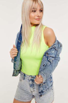 b0e10422 ... spring summer 2019 CLOTHING, · Neon Sleeveless Mock Neck Top