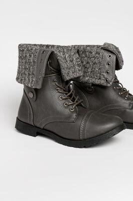 3e5baede2d5b DOOR CRASHER Ardene Women s Warm Combat Ankle Boots