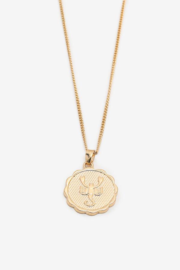 Zodiac Necklace with Scorpio Pendant