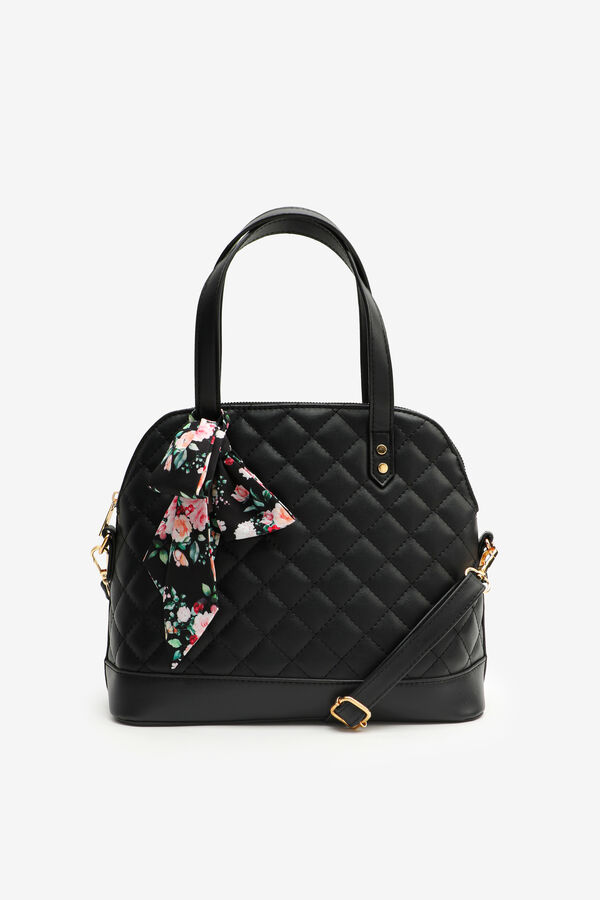 Quilted Tote Bag with Scarf