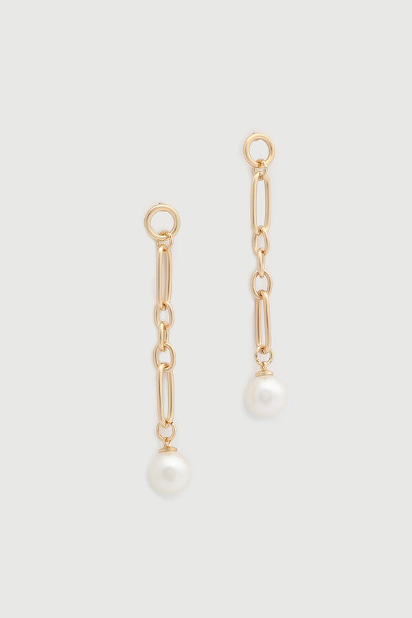 Chain and Pearl Earrings