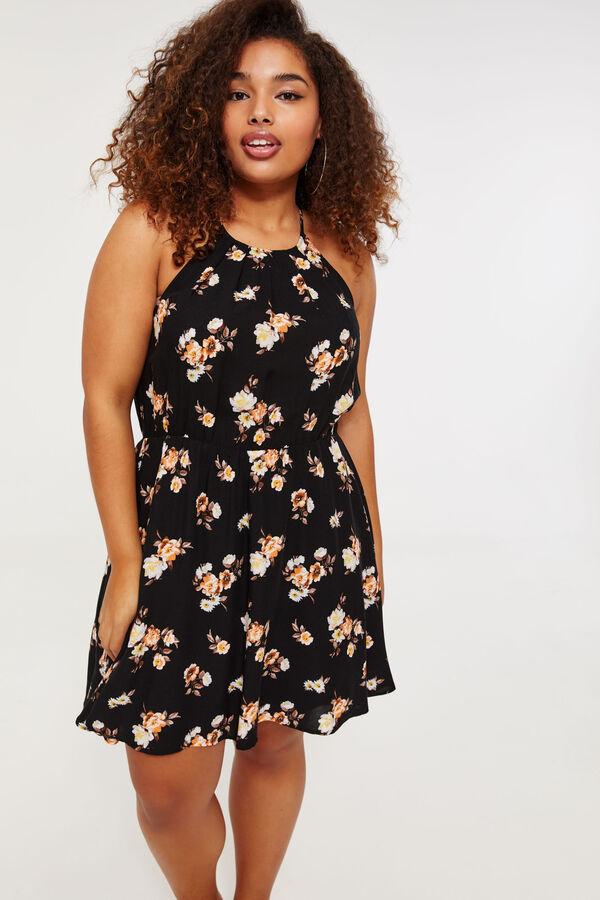 0bf902eaaa7 PLUS PLUS High Neck Floral Mini Dress ...