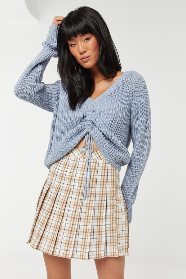 Ruched Front Sweater