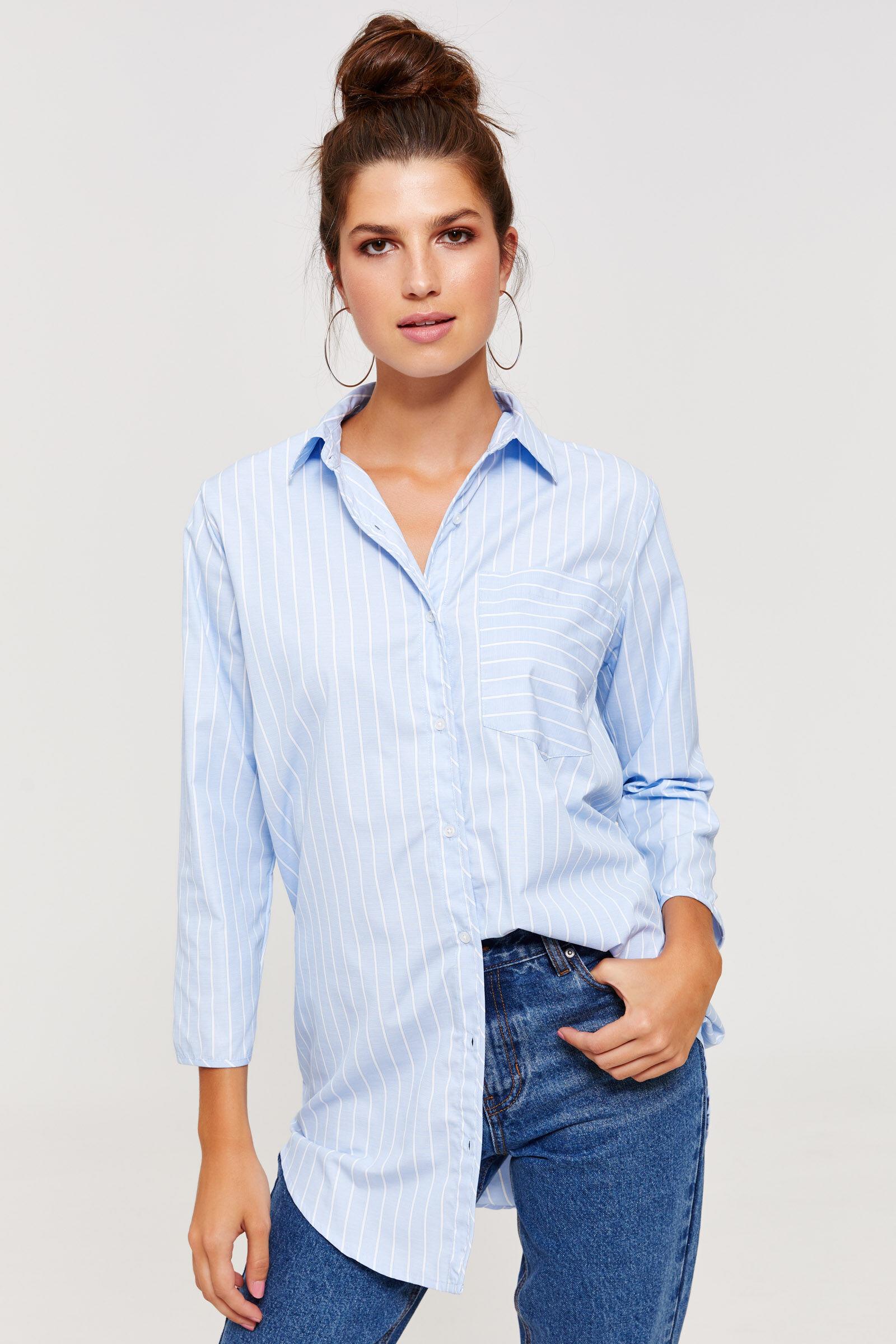 Robe chemise col v