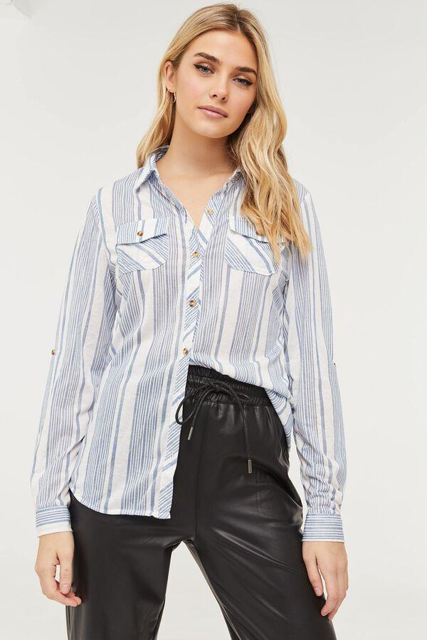 Chemise boutonnée rayée